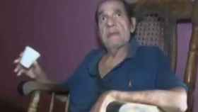 El poeta Julio Cabrales en una de sus últimas apariciones públicas