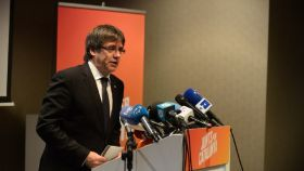 Puigdemont en la presentación de la candidatura de JxCat.