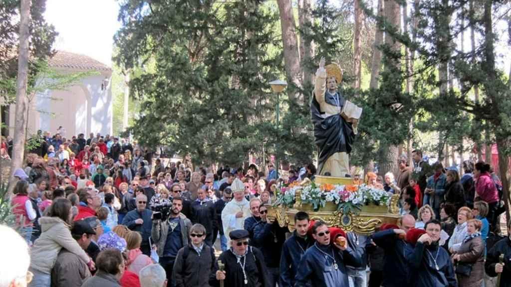 Una procesión en Llíria a San Vicente.