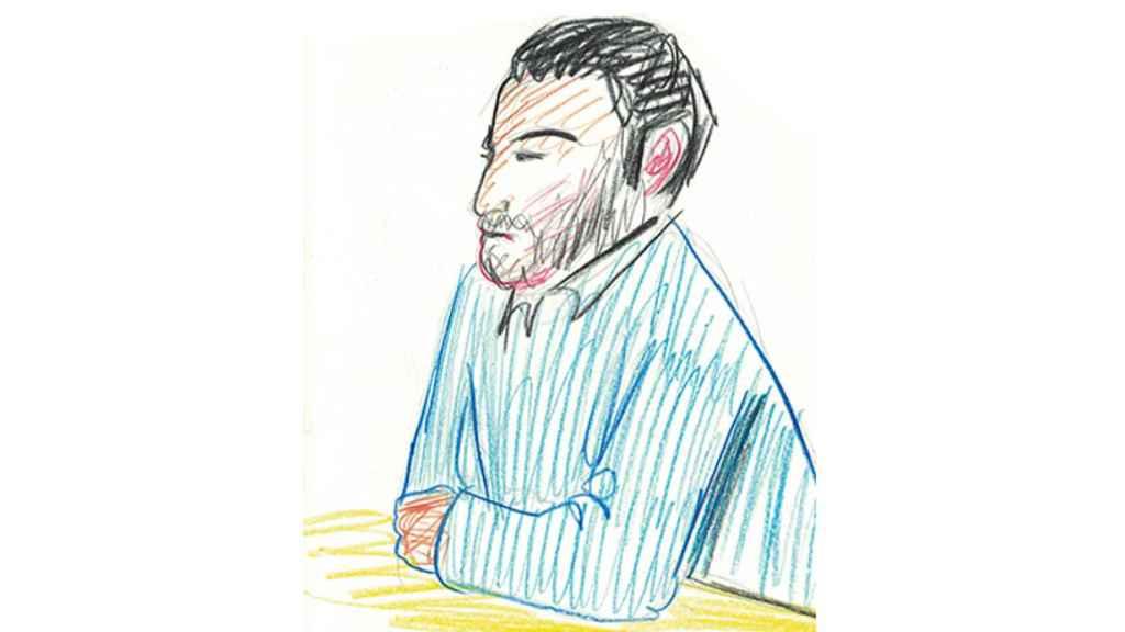 Ilustración del Prenda durante el juicio en Pamplona.