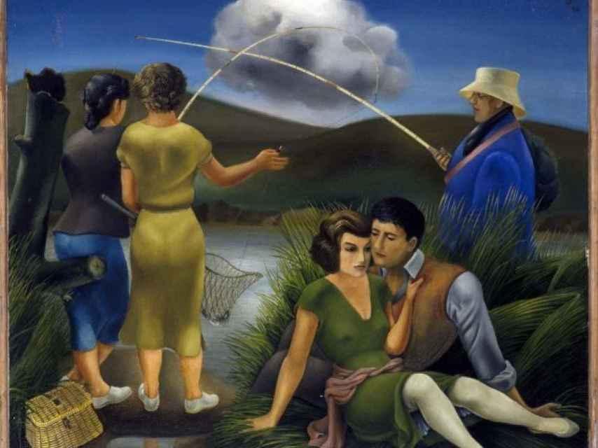 Jóvenes y un pescador, de 1936, obra de Ponce de León en el Museo Reina Sofía.