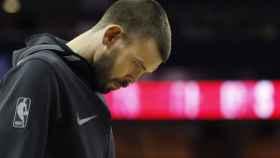 Marc Gasol, en el partido ante los Nets, el encuentro que provocó la 'guerra' en los Grizzlies.