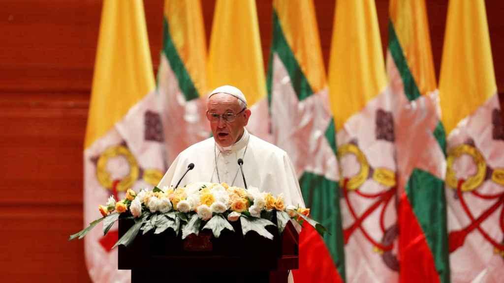 El Papa Francisco en su discurso en Birmania.