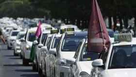 Protestas del taxi en Sevilla.