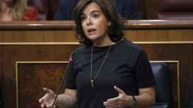 La vicepresidenta, Soraya Sáenz de Santamaría, en una imagen de archivo.