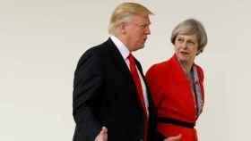 May y Trump en una imagen de archivo
