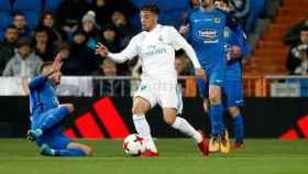 Franchu ante el Fuenlabrada en el Santiago Bernabéu. Foto: realmadrid.com