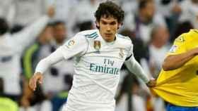 Vallejo, en un partido con el Real Madrid