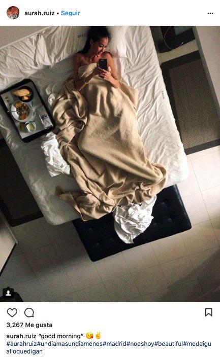 Aurah, la novia de Jesé, vuelve a revolucionar Instagram con una foto en la cama