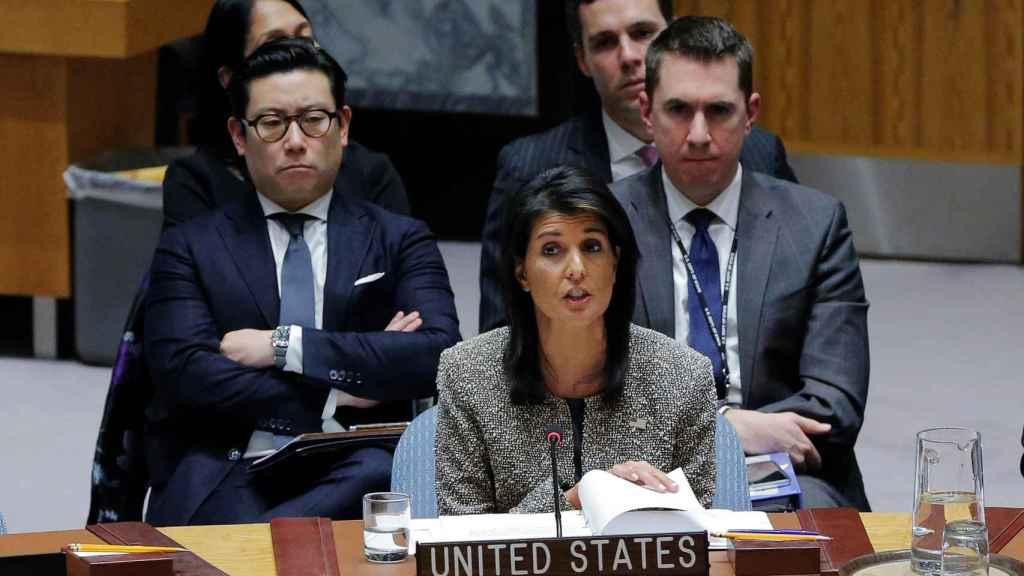 La embajadora de EEUU en Naciones Unidas, Nikki Haley.