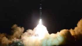 Lanzamiento de Hwasong-15 desde una ubicación no revelada de Corea del Norte