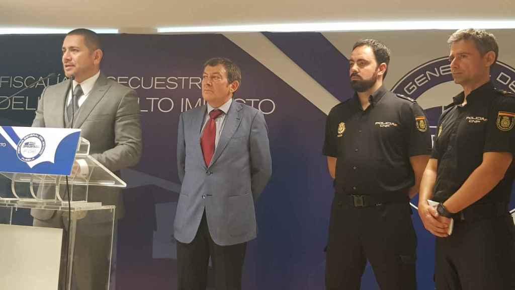 Momento de la rueda de prensa en la que se daba a conocer la acción coordinada entre España y México.
