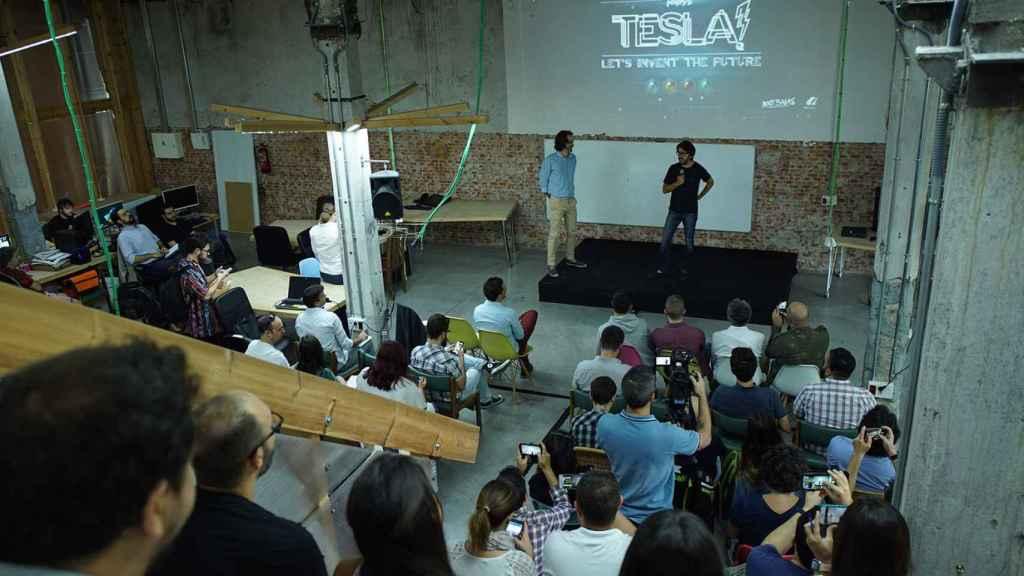 Flippy presentó Flippy's Tesla! Inventemos el Futuro, parte de PlayStation Talents, en Madrid.