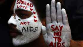 Una acción de conmemoración del Día Mundial de la Lucha contra el Sida.