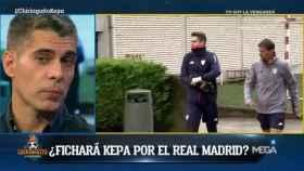 José Luis Sánchez avanza la situación de la operación Kepa. Foto: Twitter (@elchiringuitotv)