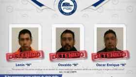 Ficha policial de los detenidos facilitada por la Fiscalía de Puebla.