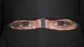 La periodista de EL ESPAÑOL tras el niqab