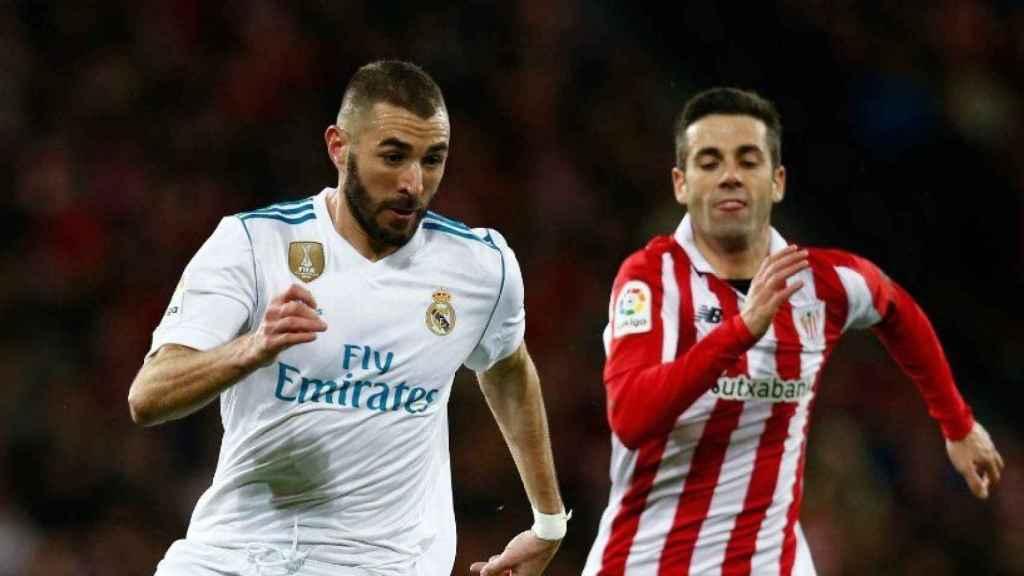 Benzema, en el Athletic-Real Madrid