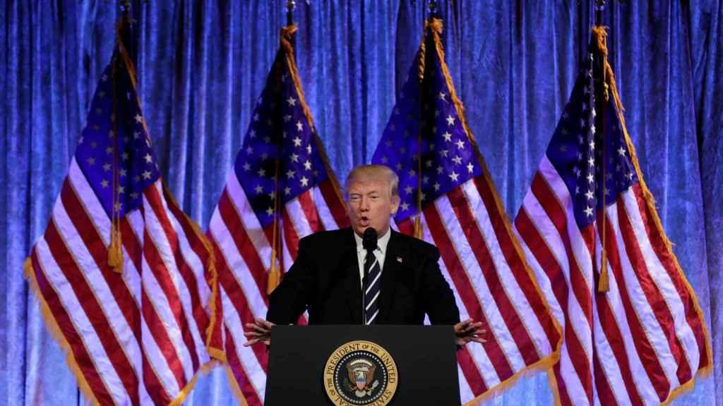 Trump, durante un discurso en Nueva York.