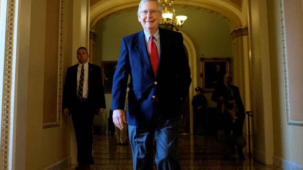 Mitch McConnell, líder de la mayoría republicana en el Senado y artífice de la aprobación de la reforma fiscal. Foto: Reuters