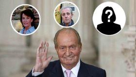 El rey Juan Carlos y sus supuestos hijos no reconocidos.