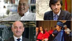 De arriba a abajo y de izquierda a derecha: Carlos Belmonte, Carlos López Otín, Lluís Torner y Margarita Salas