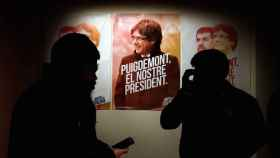 Cartel electoral de Junts per Catalunya, que centra su campaña en Puigdemont.