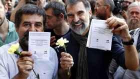 Jordi Sánchez y Jordi Cuixart durante las movilizaciones independentistas.