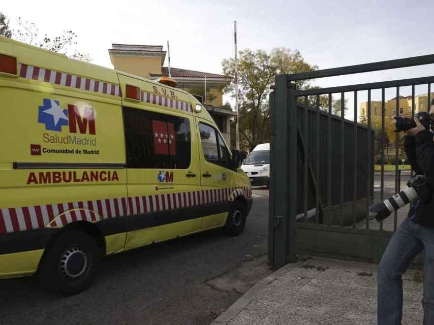 Una ambulancia del servicio sanitario de Madrid.