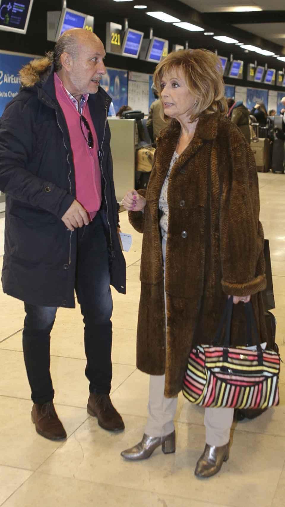 Teresa junto a José Carlos.