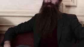 Aubrey de Grey, durante la entrevista.