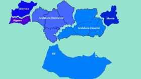 Mapa de la república (Virtual) Andaluza