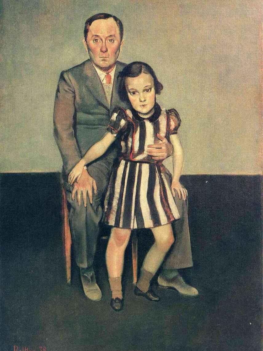 Joan Miró y su hija Dolores, cuadro de 1937.