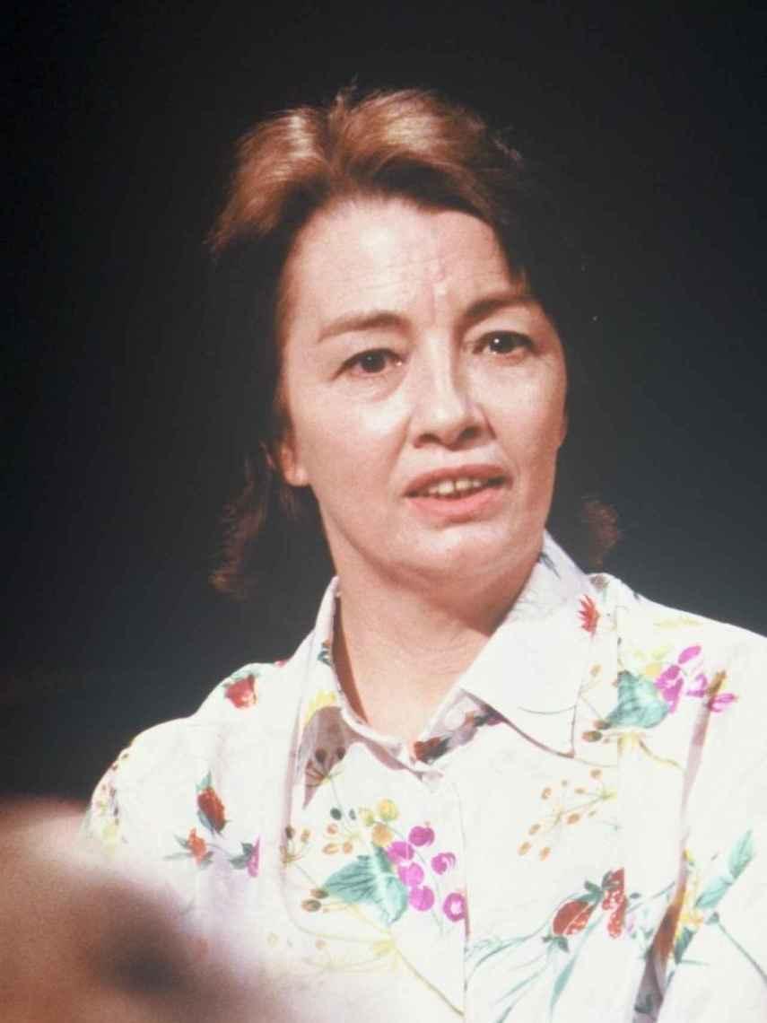 Christine Keeler, en un plató televisivo en 1988.