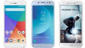 Samsung Galaxy J5 2017, Huawei P8 Lite 2017 o Xiaomi Mi A1: guía para comprar