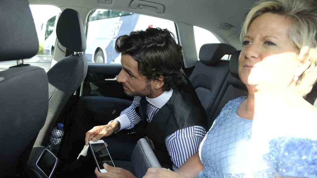 Feliciano López junto a su madre.