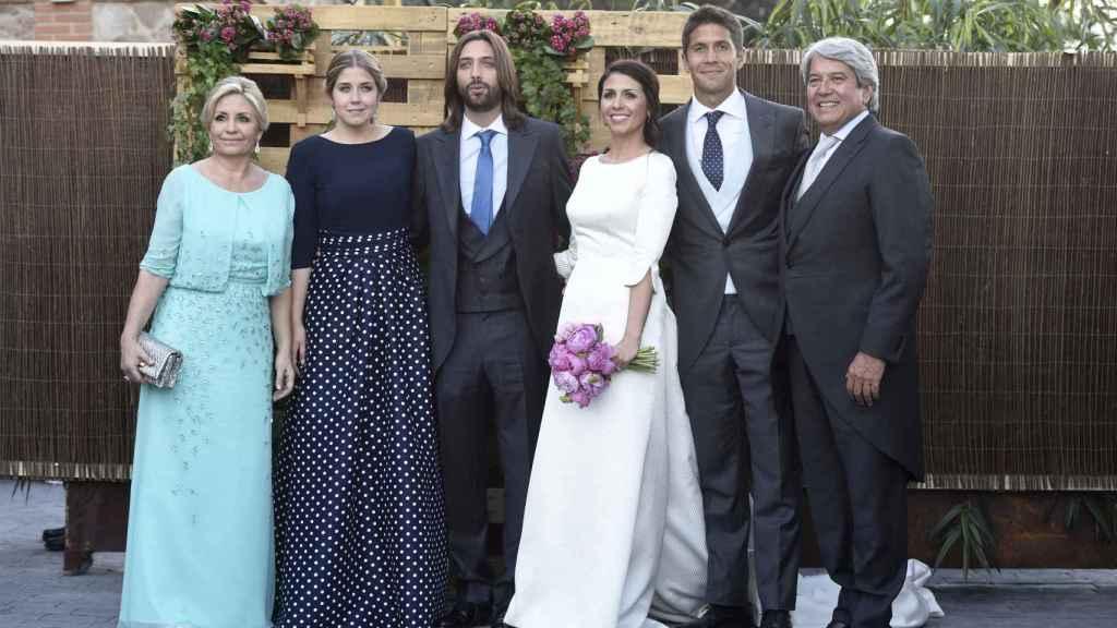 Olga Carmona en la boda de su hija Sara Verdasco y Juan Carmona.