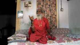 El yogui Prahlad Jani, que afirma no haber bebido agua en 70 años.