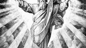 Representación gráfica de Dios. a