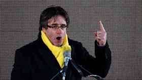 Puigdemont durante la manifestación de la pasada semana en Bruselas