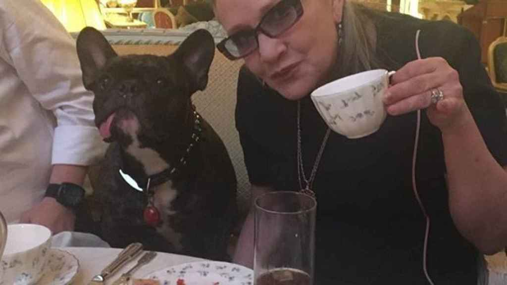 Gary y Carrie Fisher.