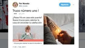 Zascas calentitos a El País por sus trucos para no encender la calefacción