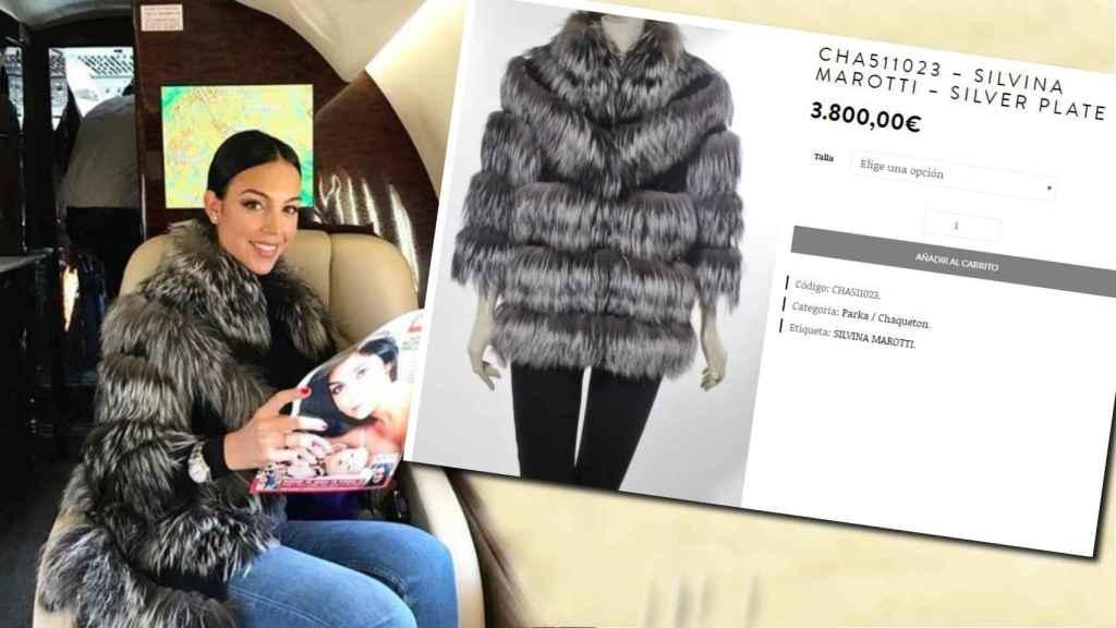 La novia de Cristiano desafió al frío parisino con un gran abrigo.