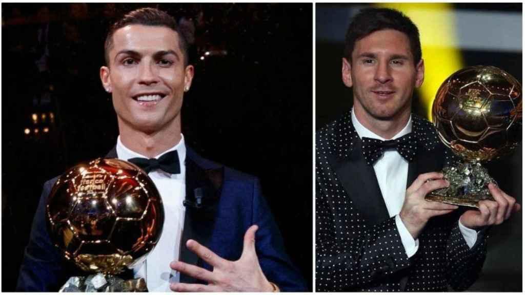 Cristiano y Messi, con el Balón de Oro