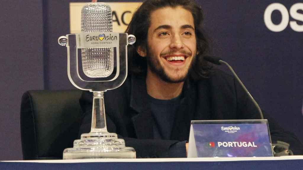 Salvador Sobral  tras ganar Eurovisión.