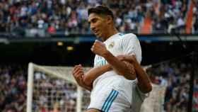 Achraf marca por primera vez en el Real Madrid. Foto: Pedro Rodríguez / El Bernabéu