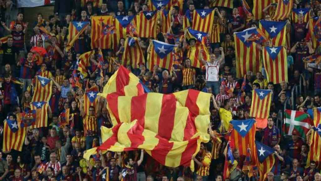 El público del partido F.C. Barcelona-Athletic Club de Bilbao donde tuvo lugar la pitada.