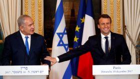 Netanyahu y Macron en el Elíseo.