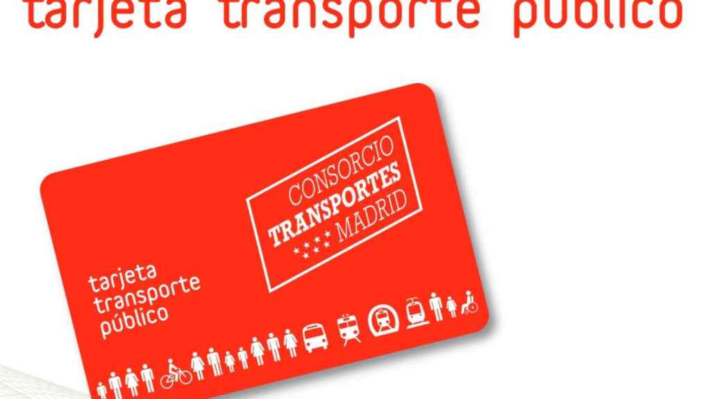 Tarjeta multitransporte de Madrid.