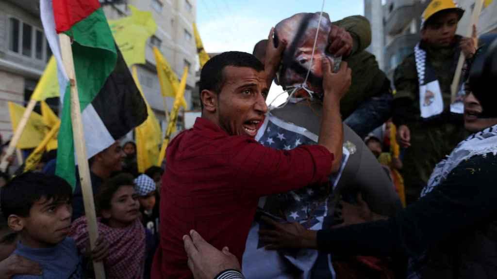 Las protestas de los palestinos en la Franja de Gaza.